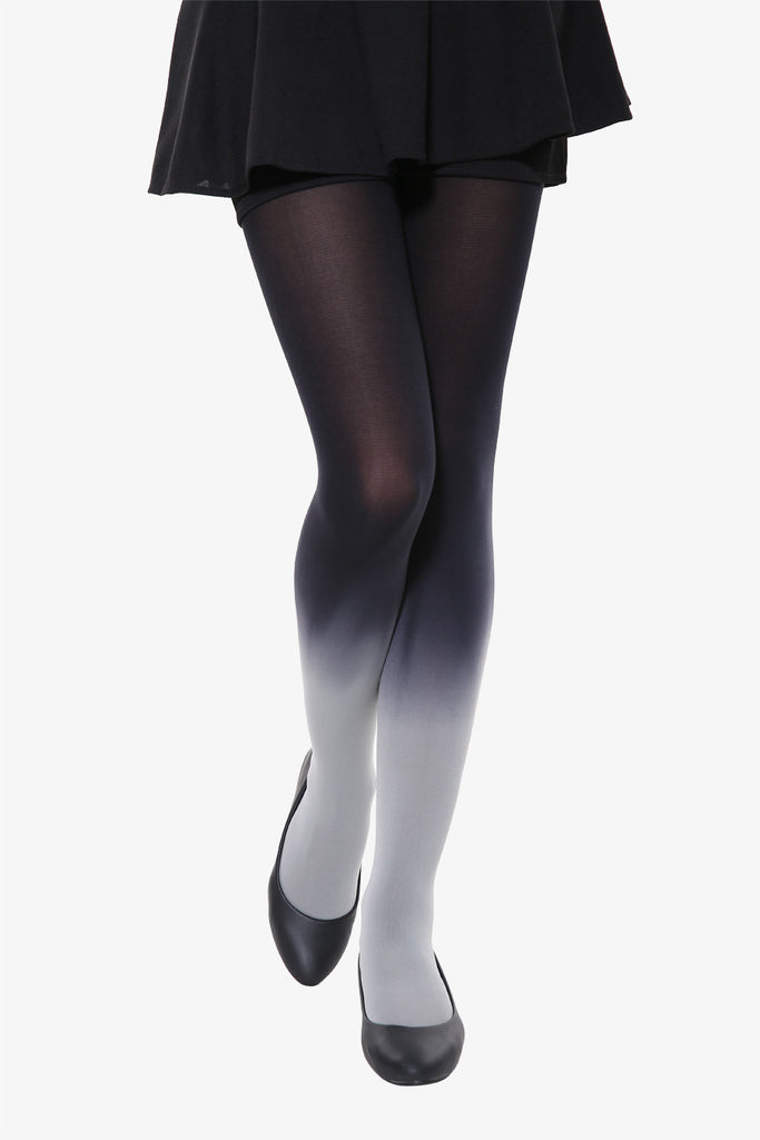 Black Gray Gradient Tights