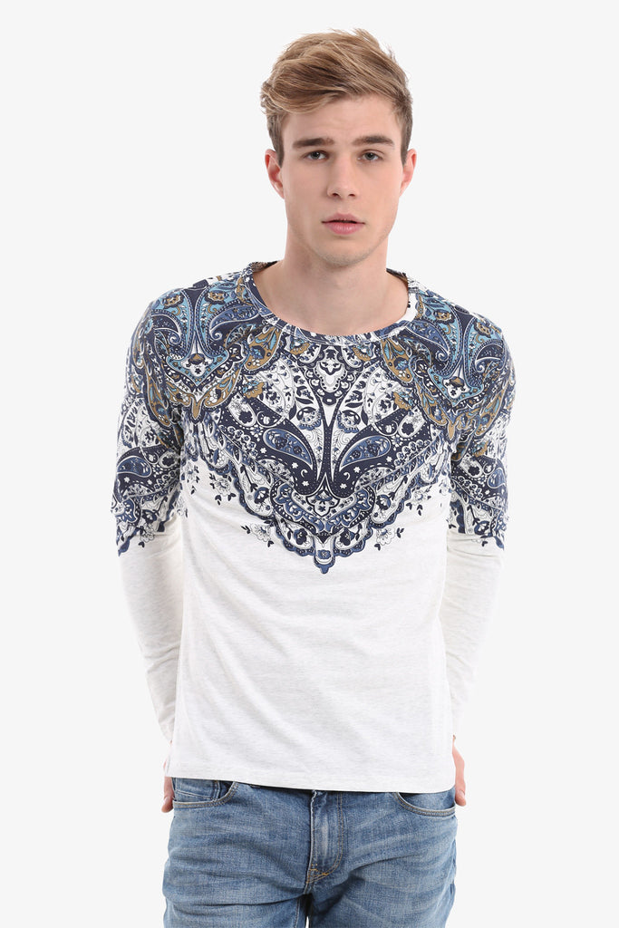 Men's Persian Pattern Long Sleeve T-Shirt