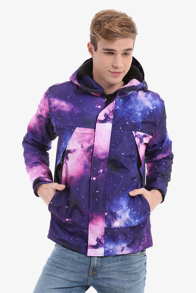 Galaxy Down Jacket In Purple