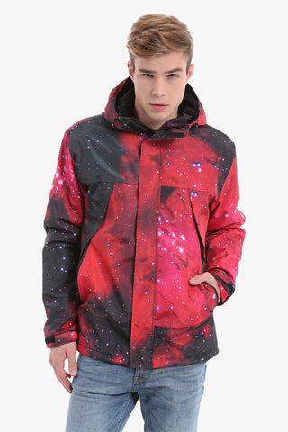 Galaxy Down Jacket In Red