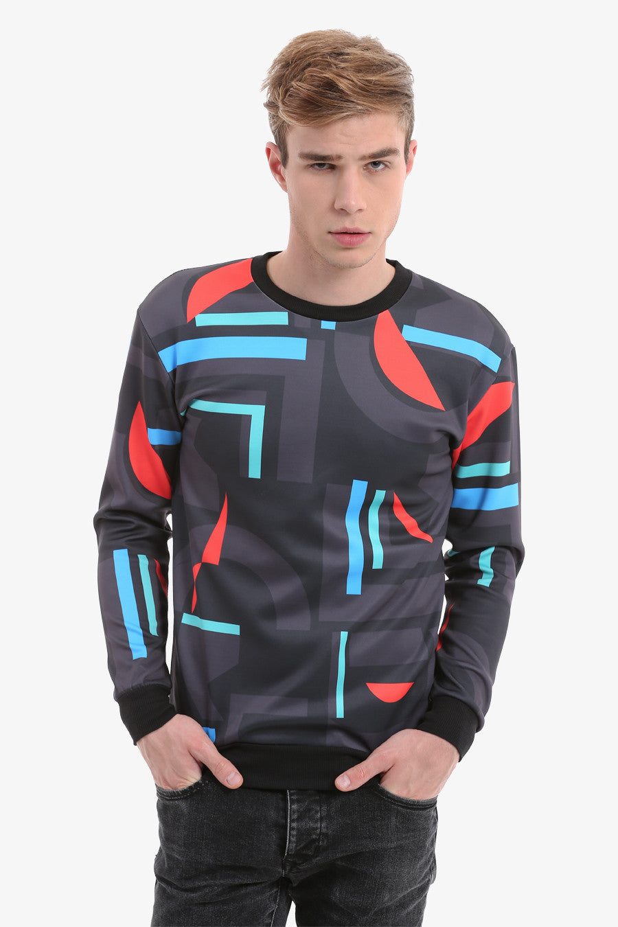 Geometric Shapes Sweatshirt