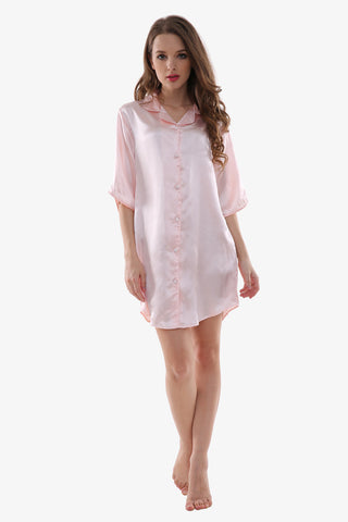 Sexy Silk Light Pink Sleepwear