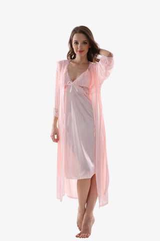 Silk Pink Sleepwear