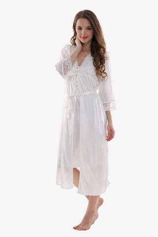 Silk White Sleepwear