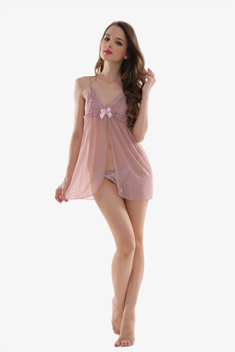 Sexy Pink Visible Sleepwear