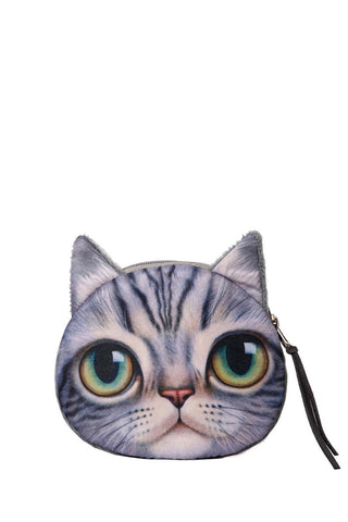 Adorable Kitten Zippered Coin Purse
