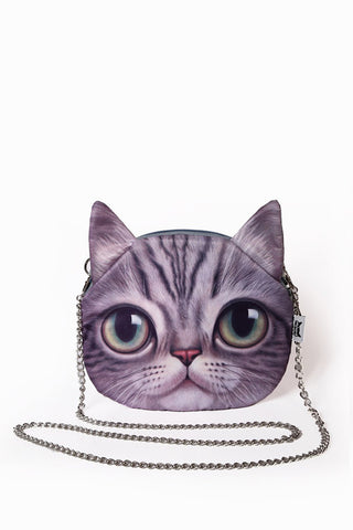 Sad Kitten Chain Handbag