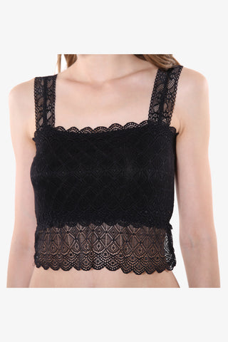 Sweety Black Lace Bustiers