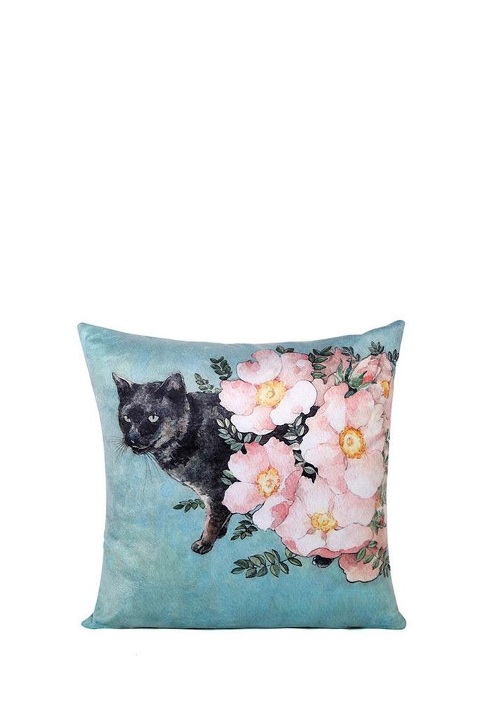 Retro Style Floral Pillow