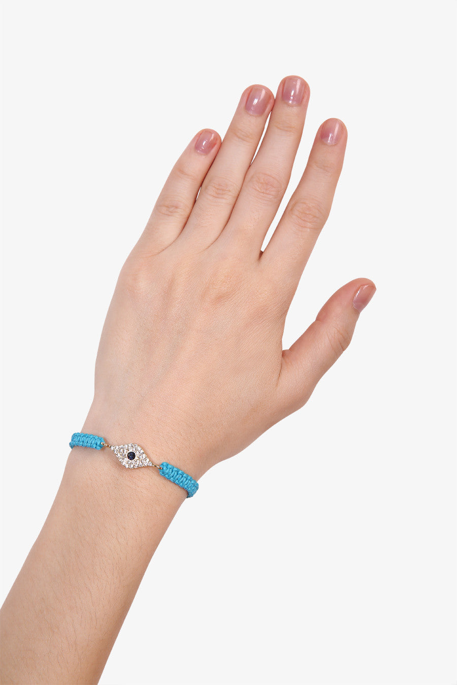 Eye Blue Braided Bracelet