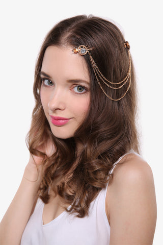 Retro Angel Wing Hair Brooch