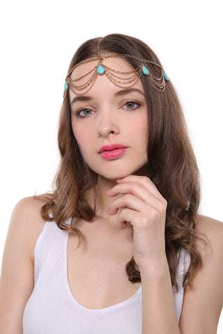Fantasy Turquoise Hair Crown