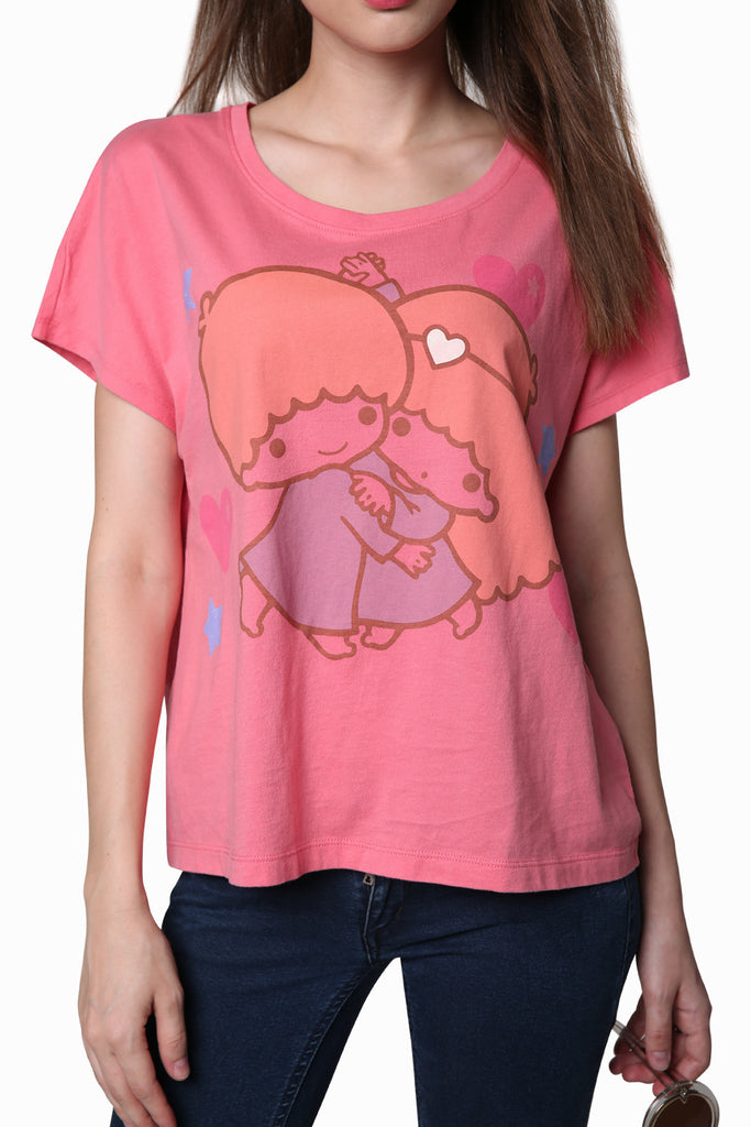 Little Twin Stars T-Shirt In Pink