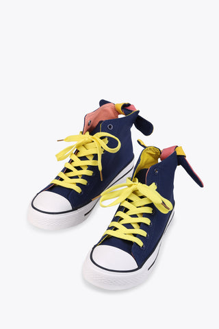 Navy Bow Sneakers