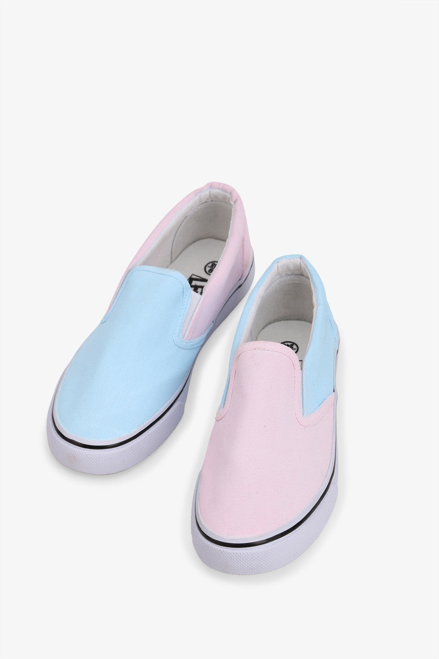 Two Tone Slip-On Sneakers