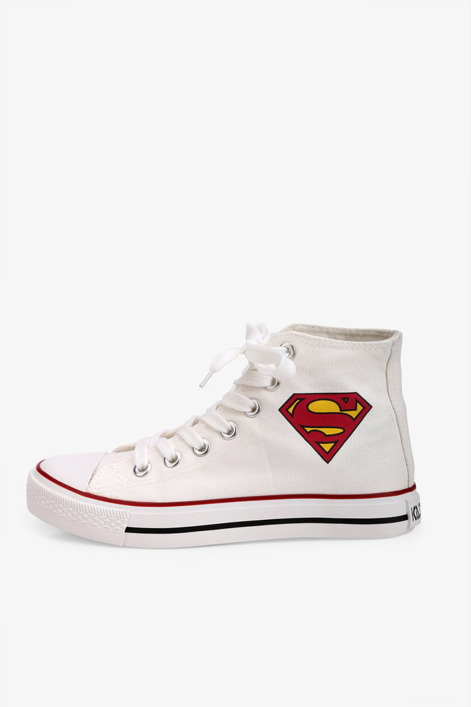 Superman Sneakers In White