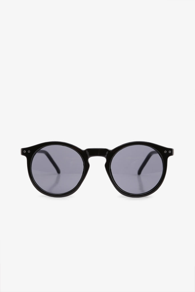 Vintage Round Black Sunglasses
