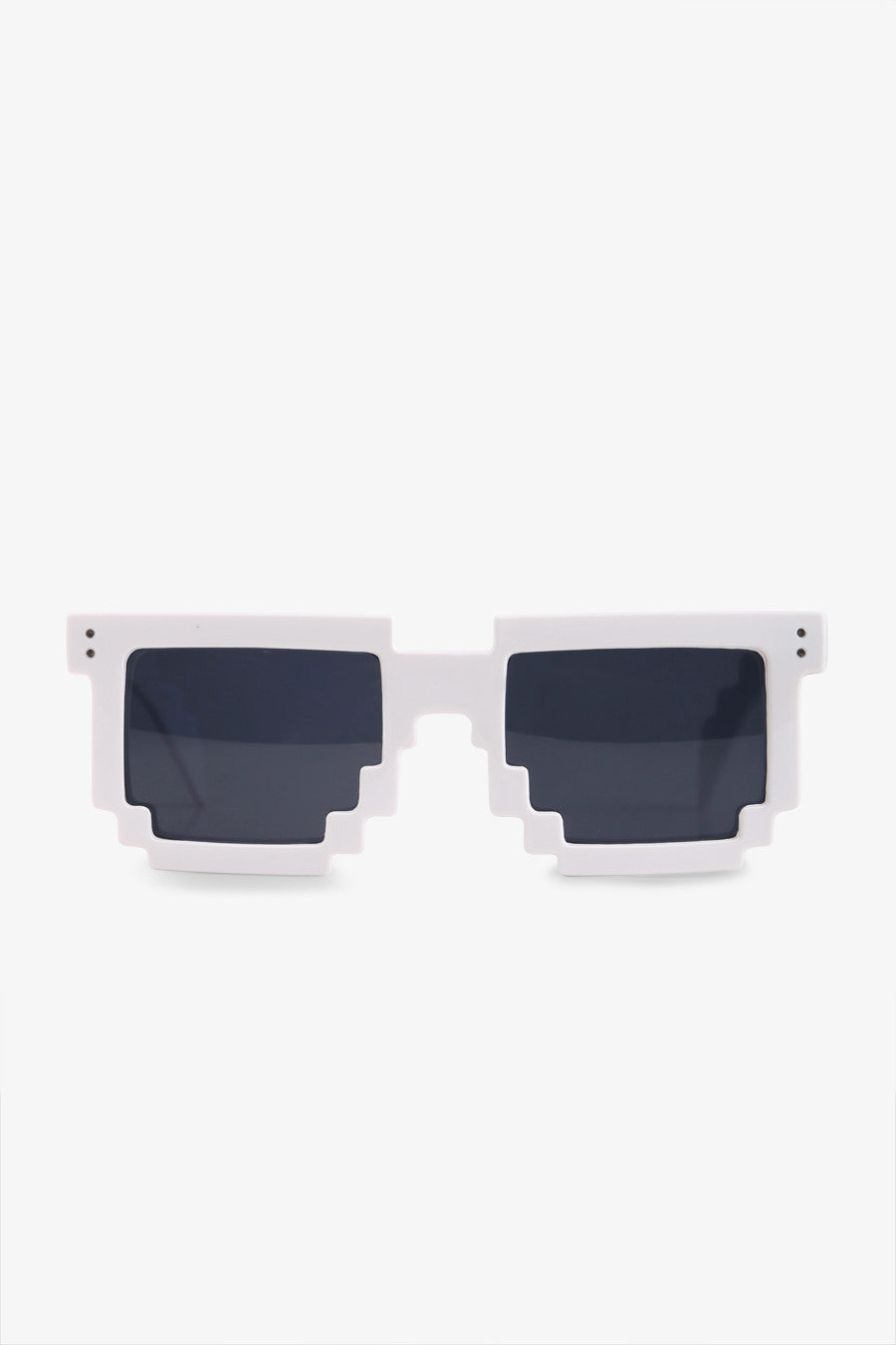 Stylish Jagged Sunglasses In White