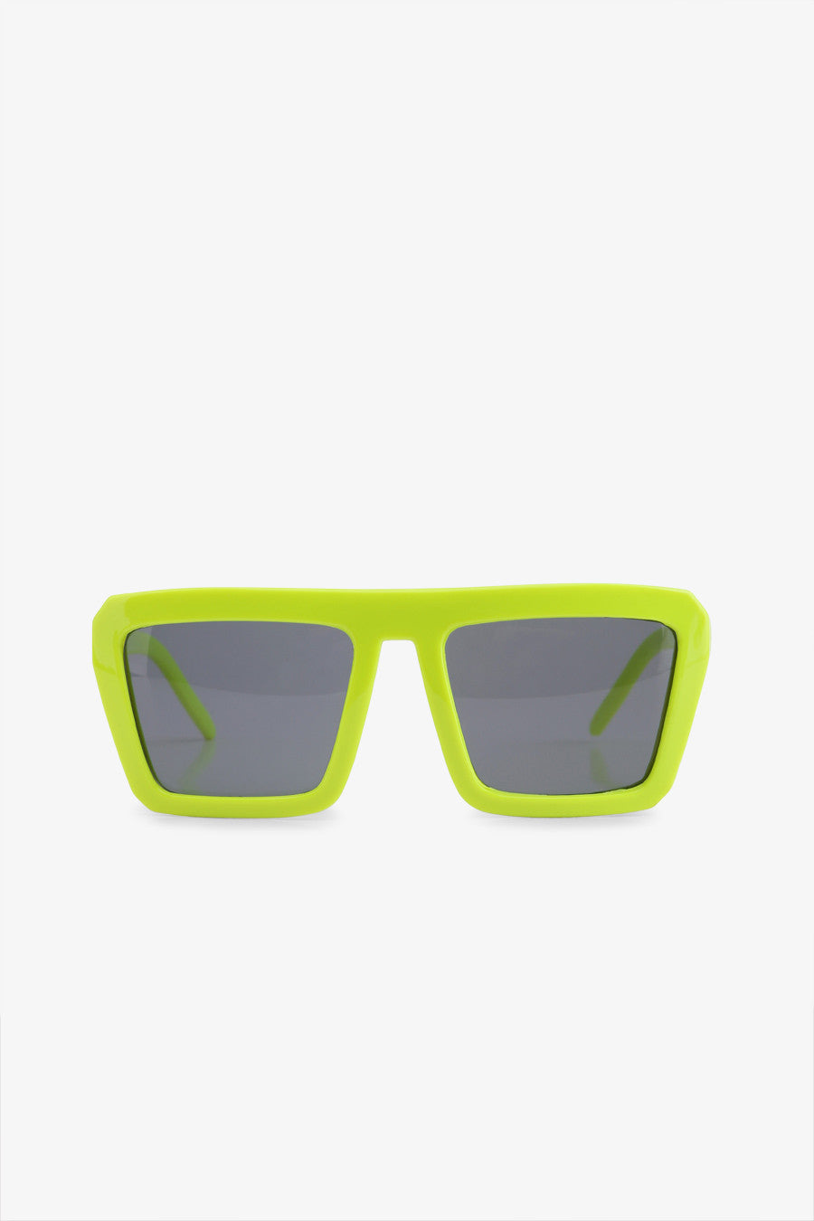 Green Frame Square Sunglasses