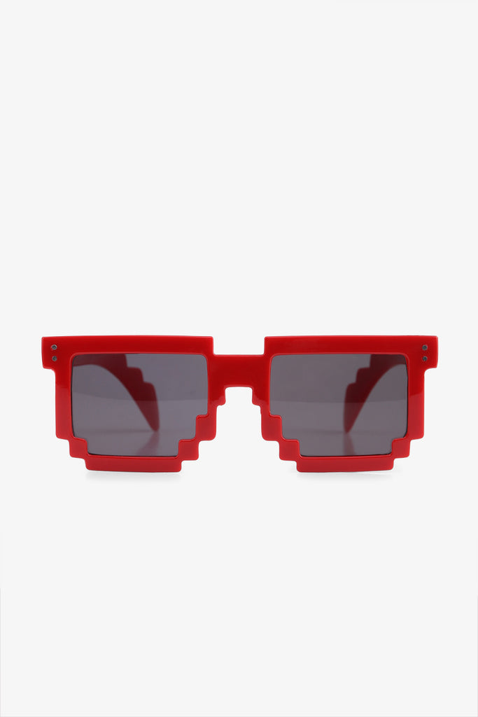 Stylish Jagged Sunglasses In Red