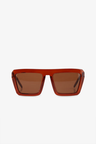 Brown Square Sunglasses
