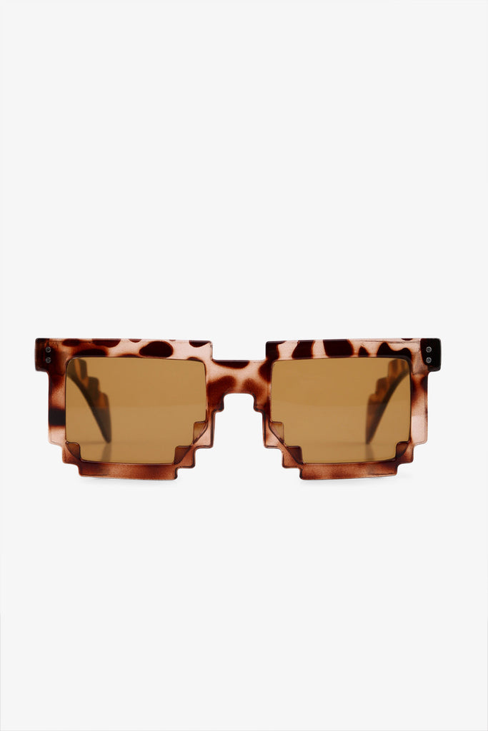 Stylish Jagged Tortoise Sunglasses In Brown
