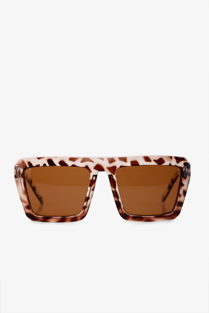 Fashion Oversized Tortoise Sunglasses In Brown