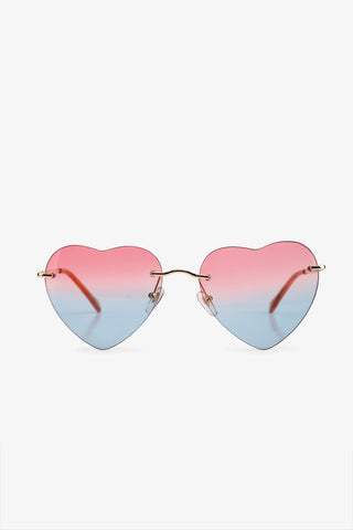 Vintage Rainbow Heart Sunglasses
