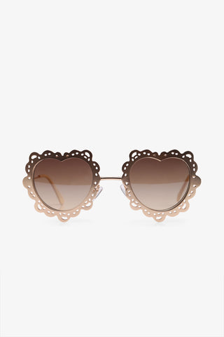 70s Golden Heart-shaped Sunglasses