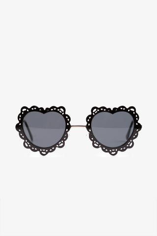 70s Black Heart-shaped Sunglasses