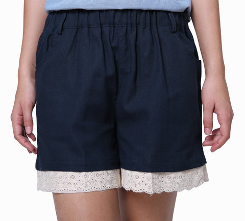 Cute Navy Blue Shorts