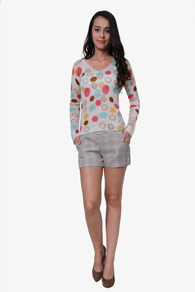 Stretch Candy Dot Sweater