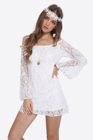 Retro Off Shoulder Lace Dress