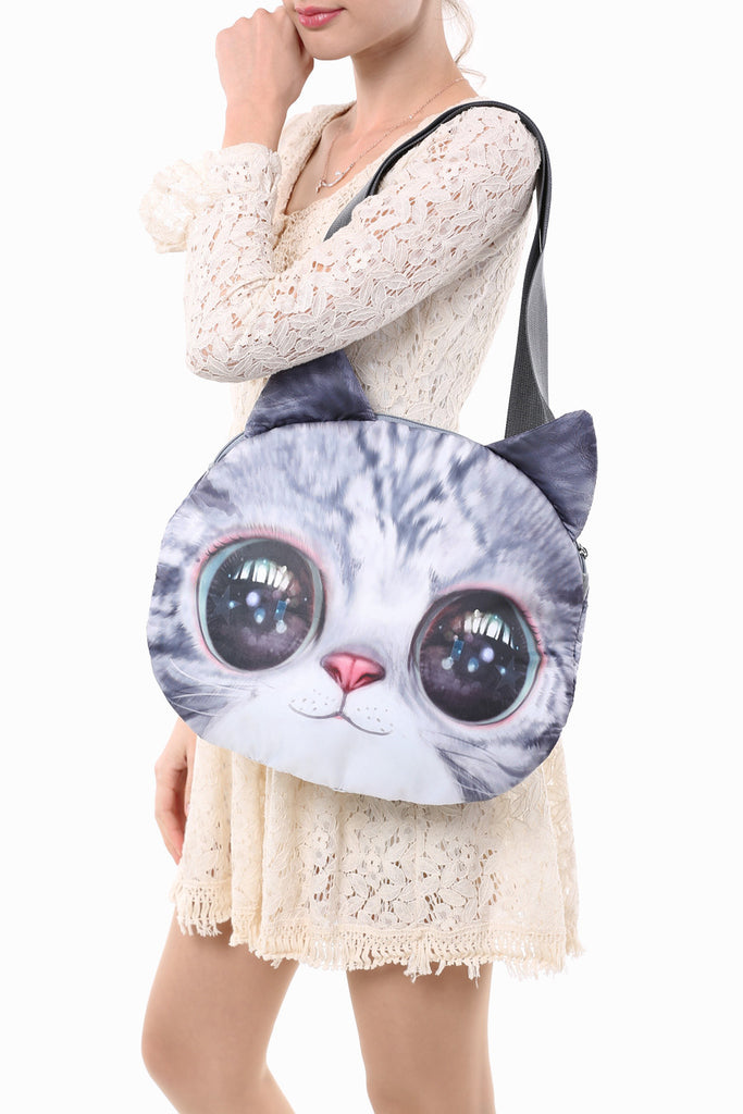 Big Eyes Pattern Lovely Cat Handbag