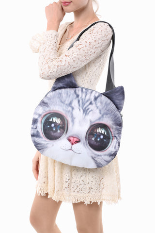 Big Eyes Pattern Cat Handbag