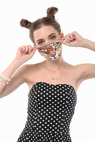 Serious Leopard Mouth Face Mask