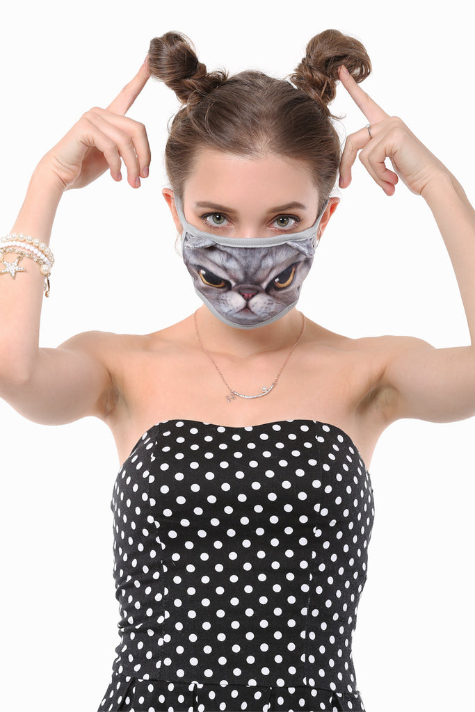 Angry Cat Face Mask