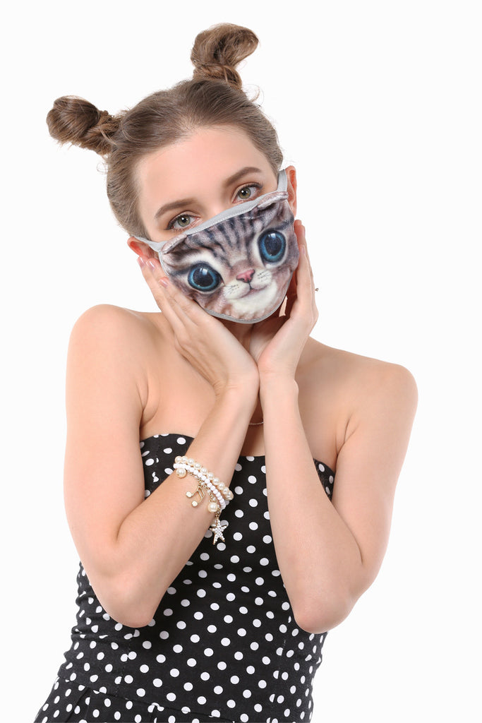 Hypnotic Cat Face Mask