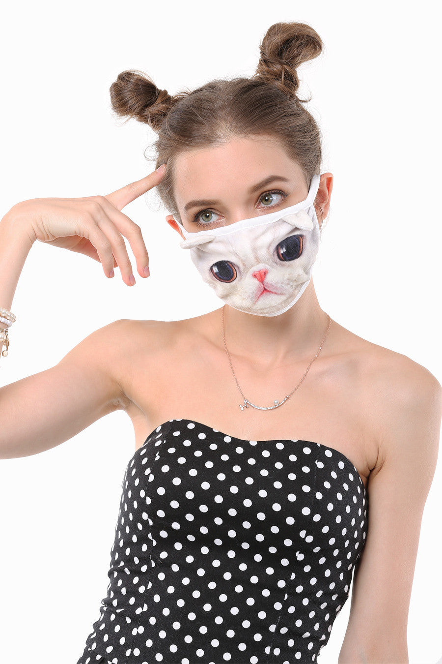 Alien Kitty Mouth Face Mask