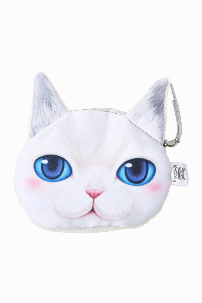 Chic Kitten White Coin Purse