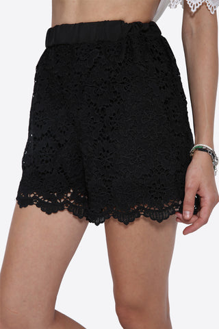 Floral Boho Embroidered Shorts