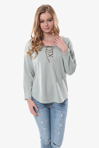 Gray Peasant Sweater