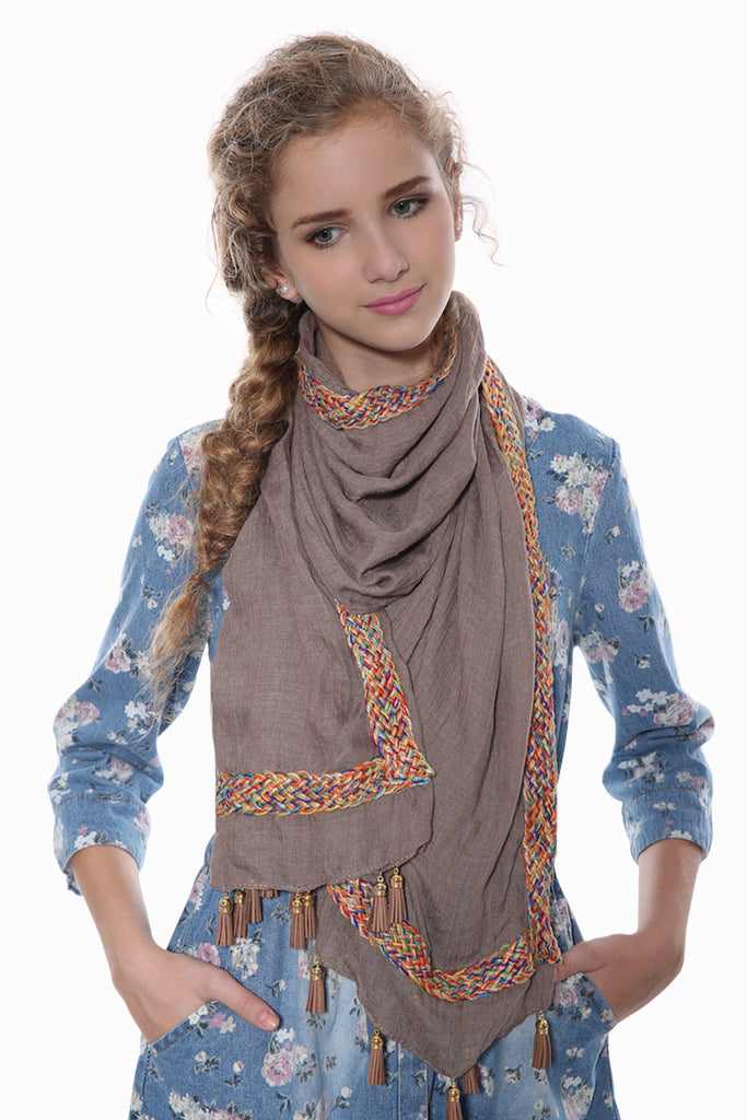 Variegated Tan Scarf