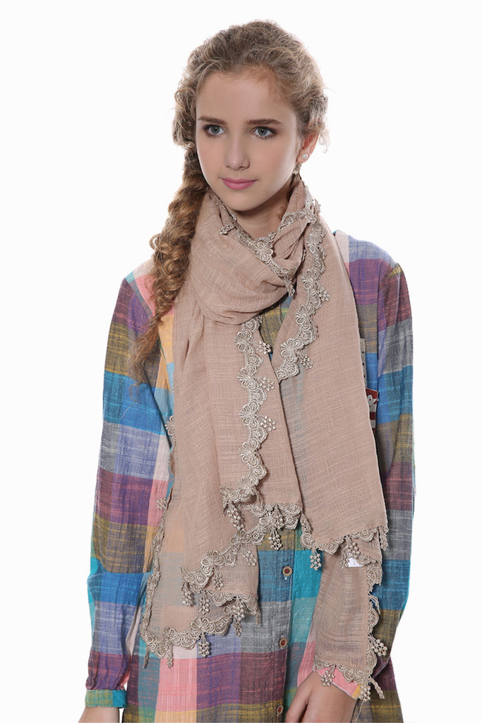 Tan Late Scarf
