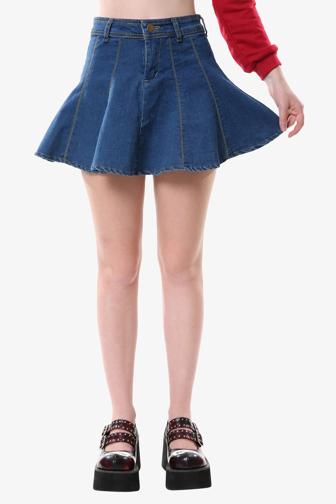 Vintage Denim Mini Skirt