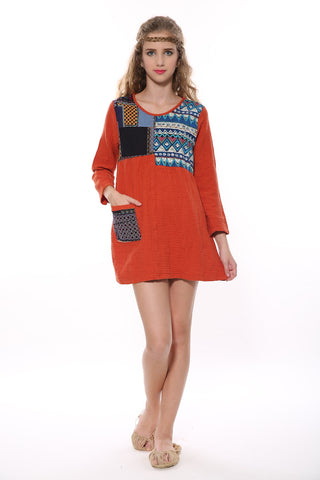 Retro Tunic In Orange