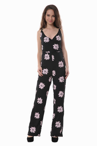 Daisy Deep V-neck Jumpsuit