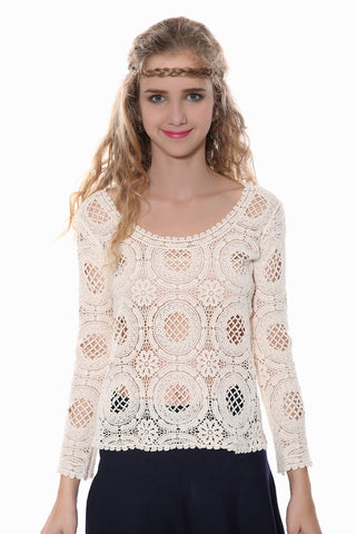 Sweety Cream Knit Top