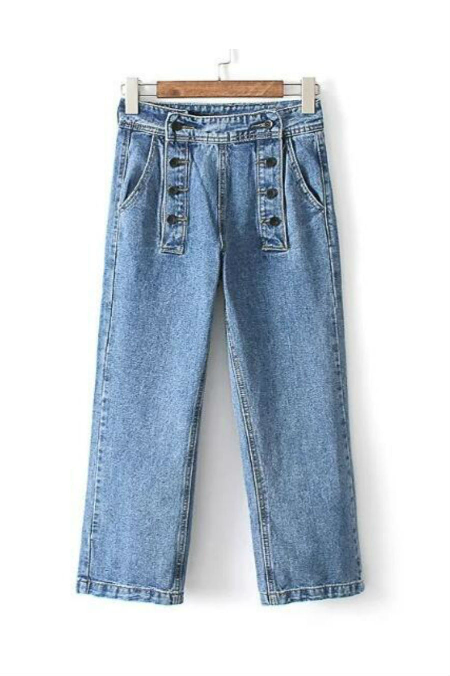 Vintage Fashion Wide Leg Jeans