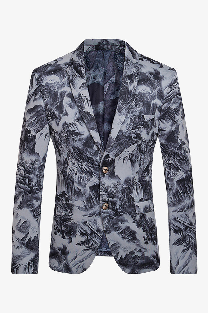 Nature Scene Gray Printing Jacket